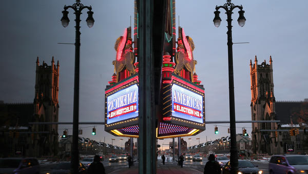 The Fox Theater in downtown Detroit, site of Thursday's Republican debate. (Chip Somodevilla / Getty Images) None
