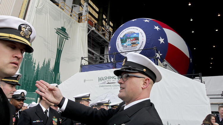 Pictures: Ship Christening USS Washington