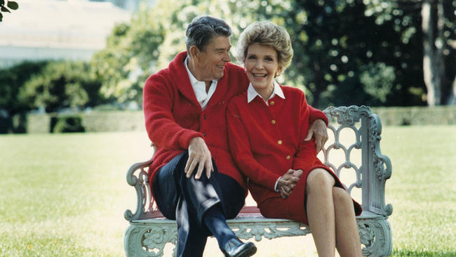 Former President Ronald Reagan and First Lady Nancy Reagan share a moment on their 50th anniversary on March 4, 2002. Nancy turned to astrology in the White House in an attempt to protect her husband. (Ronald Reagan Presidential Library)