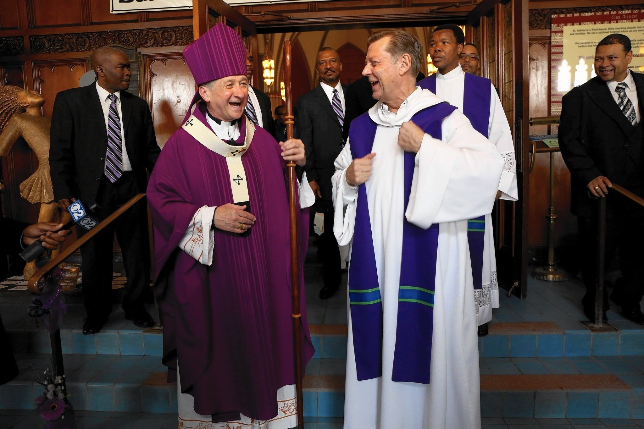 Image result for pastor pfleger with cupich