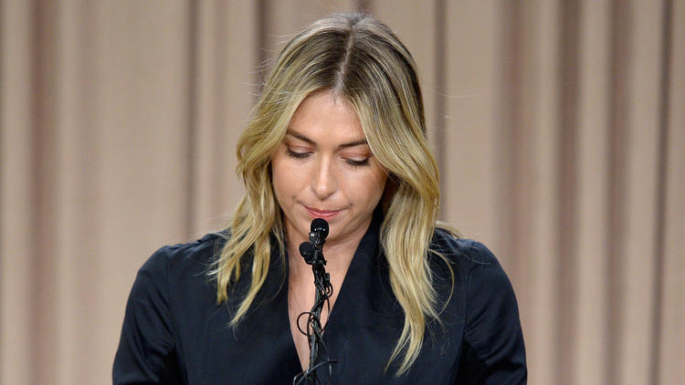 Maria Sharapova fails a drug test at the Australian Open