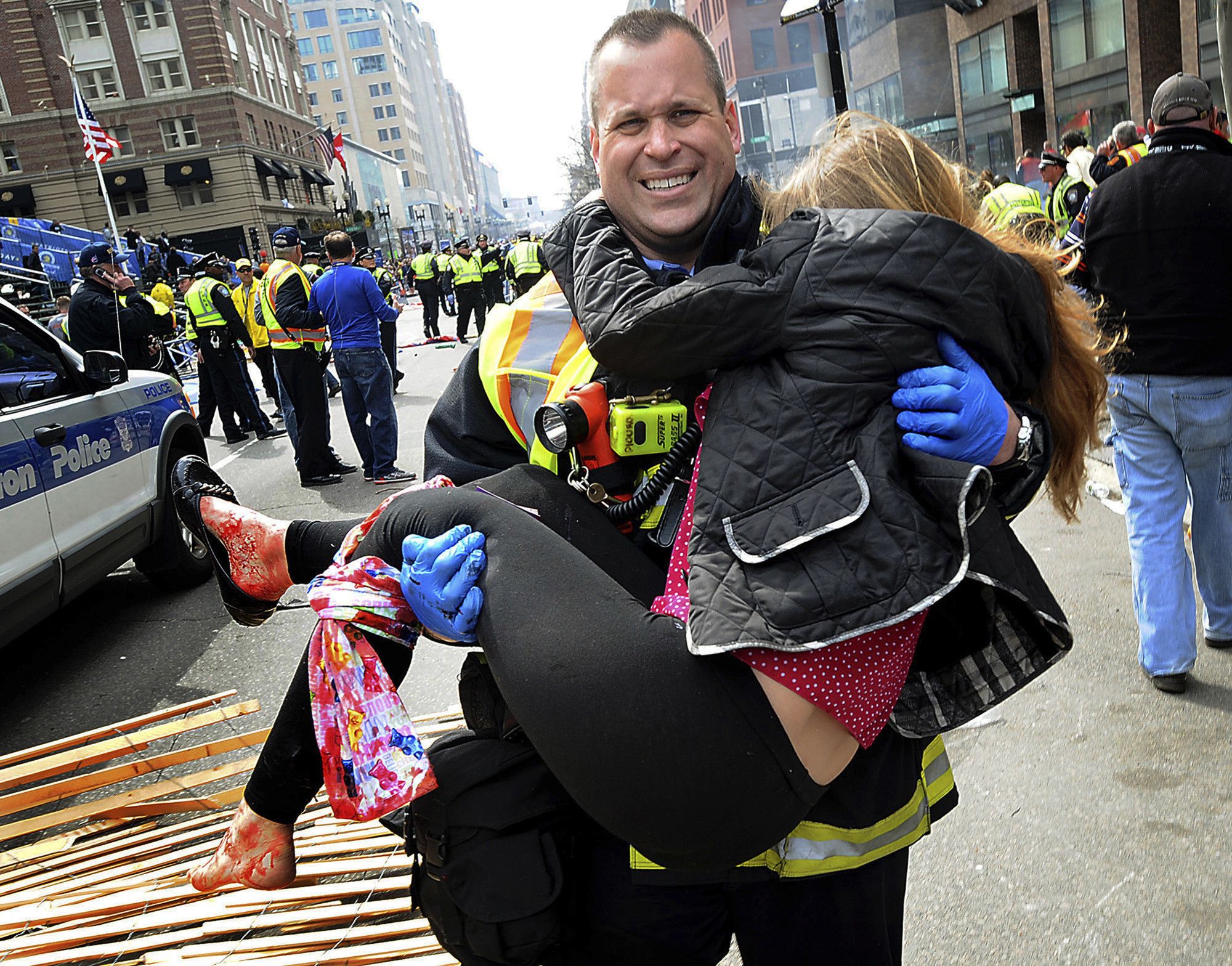 the boston marathon bombing Then bombs bloodied the finish line of the boston marathon, killing three  spectators, wounding 260 others, and forever linking a villain to his.