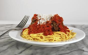 Dominick's spaghetti and meatballs