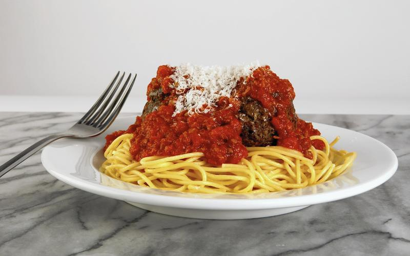 Dominick's spaghetti and meatballs