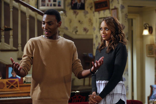 "Jerrod (Jerrod Carmichael) and Maxine (Amber Stevens West) are a couple on NBC's ""The Carmichael Show."" (Vivian Zink / NBC)"