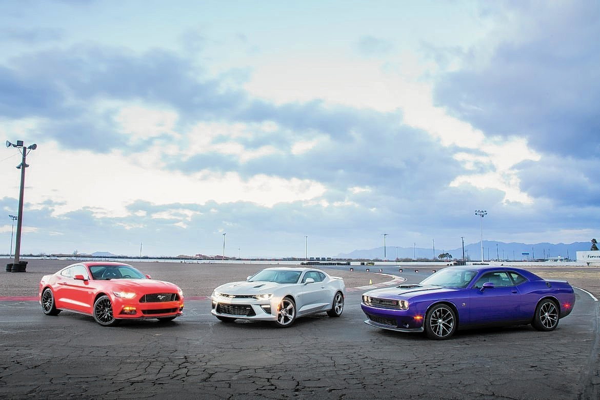 Need a V-8? 2016 Camaro, Challenger and Mustang battle as America's best muscle car