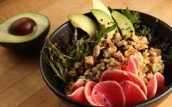 Sesame barley bowl