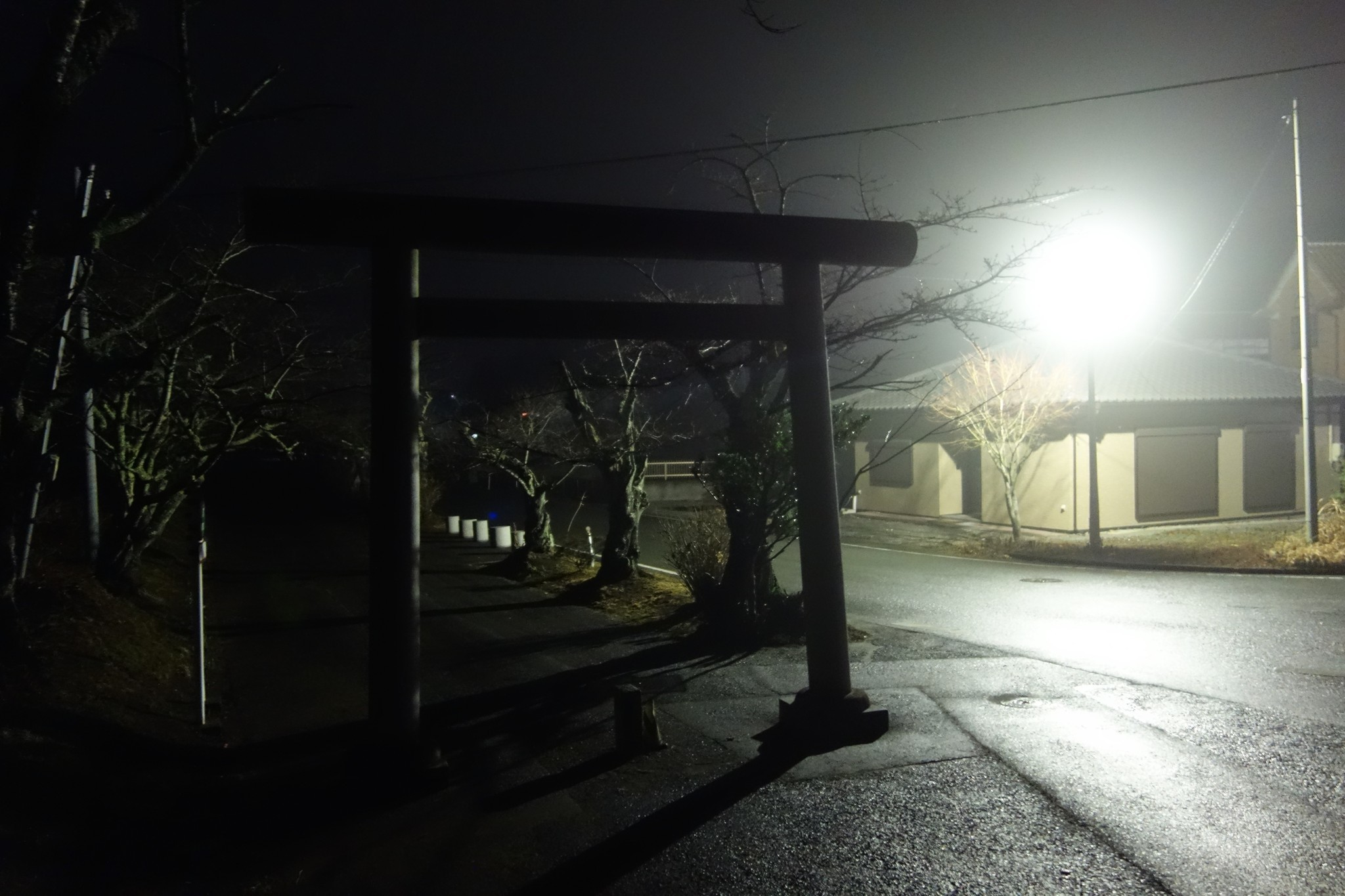 Abandoned town night