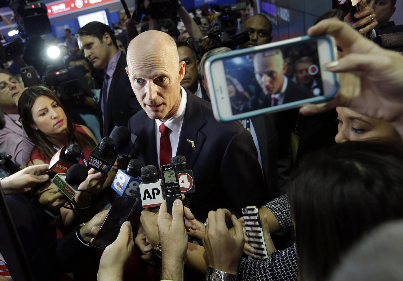 Florida Gov. Rick Scott withheld his endorsement until after the Florida primary.