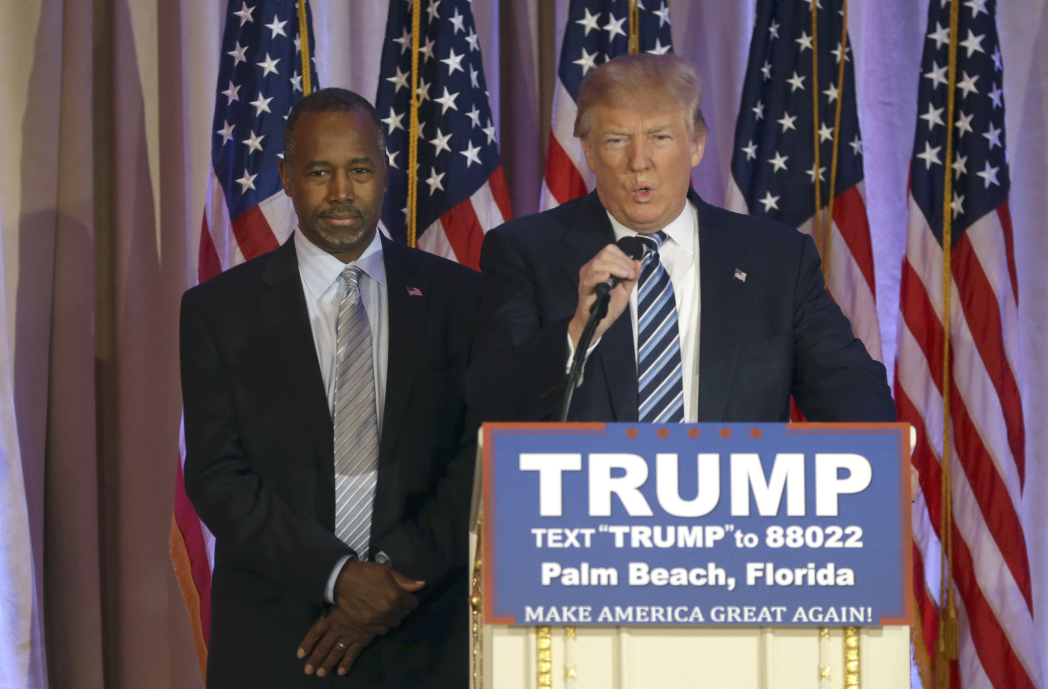 Ben Carson endorses Donald Trump says there are 2 sides to GOP