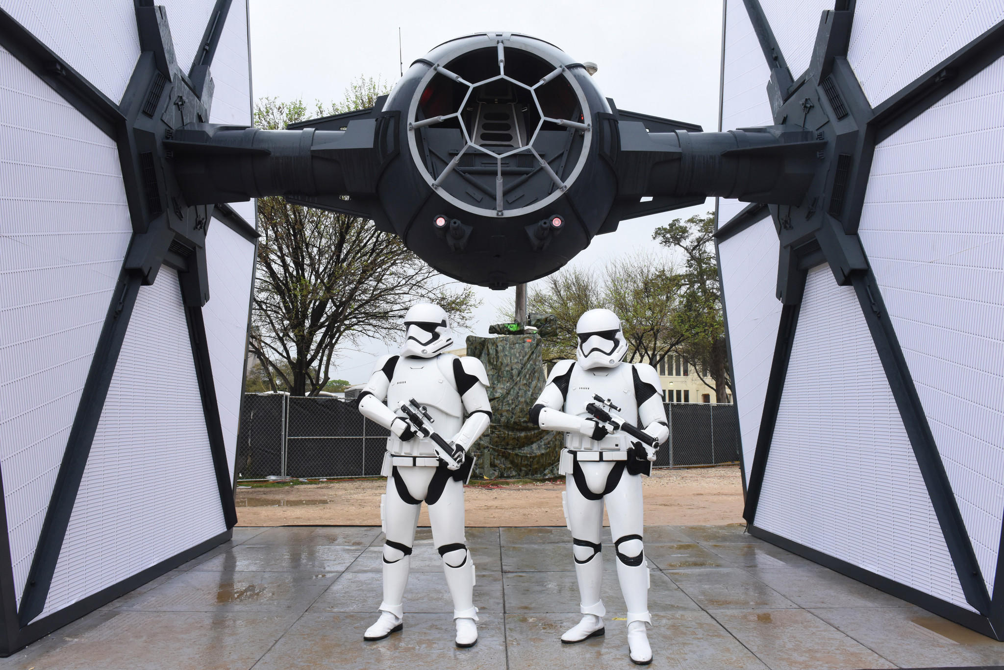 "The First Order, from ""Star Wars: The Force Awakens,"" has landed at SXSW. (Vivien Killilea / Getty Images)"