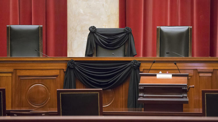 APphoto_Supreme Court Draped in Black