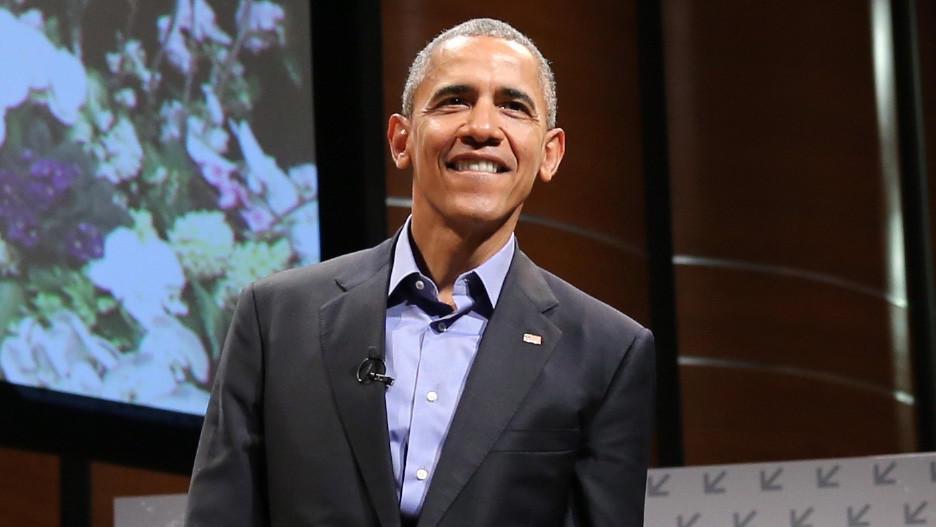 President Barack Obama speaks during the 2016 SXSW Festival at Long Center in Austin. (Neilson Barnard / Getty Images for SXSW)