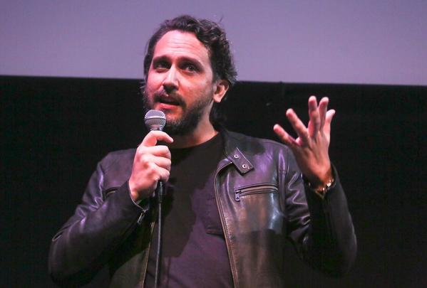 Uruguayan film director and screenwriter Fede Alvarez, speaking at Austin's Stateside Theatre for a late-night screening of his new film (Jack Plunkett / Fons PR)