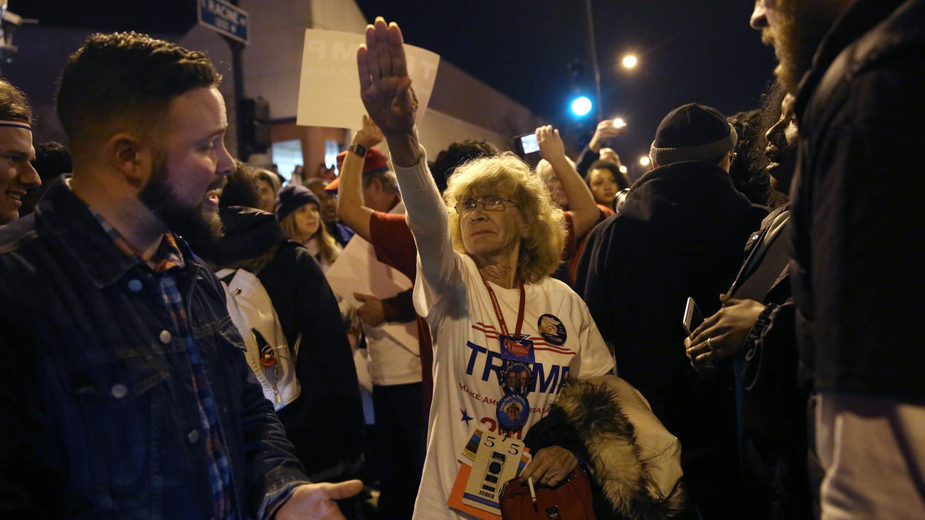 Trump supporter explains what led to Hitler salute ...