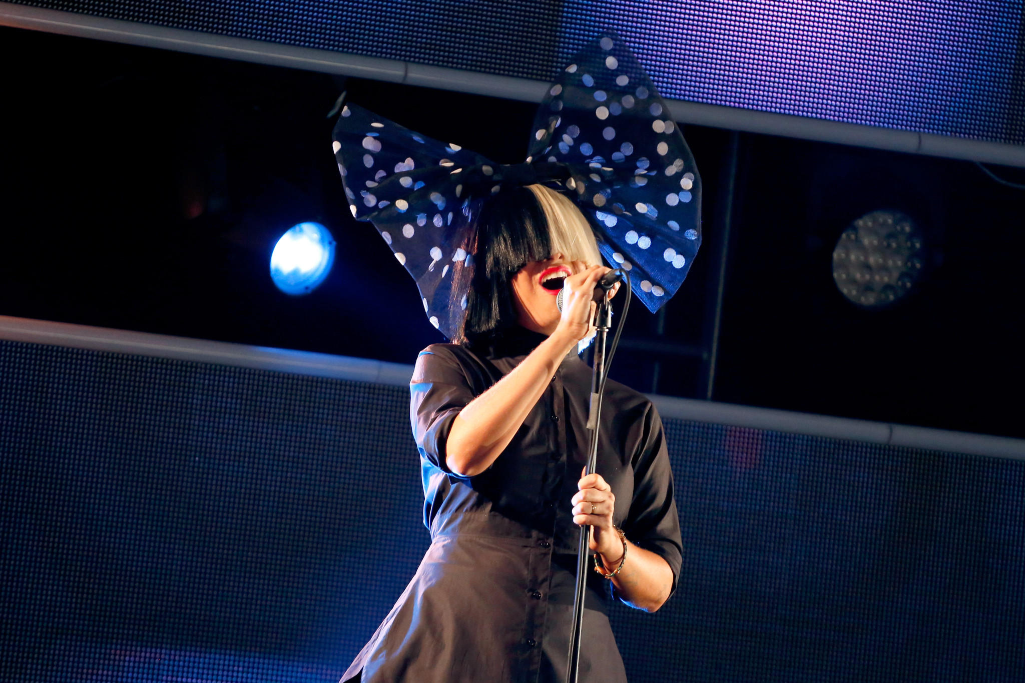 Sia performs at Samsung Galaxy Life Fest. (Rick Kern / Getty Images)