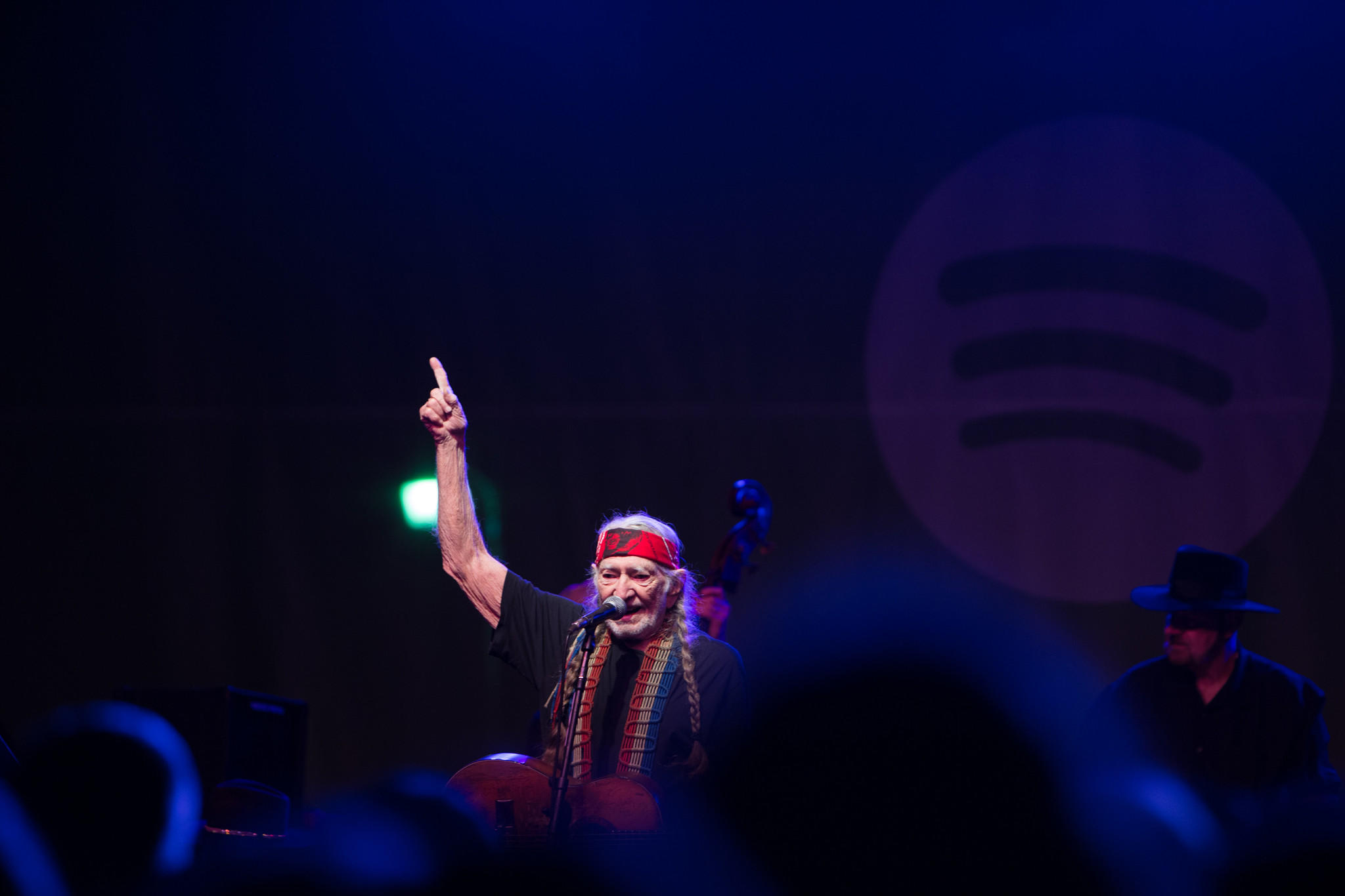 Willie Nelson performs at the Spotify House (Anna Webber / Getty Images)