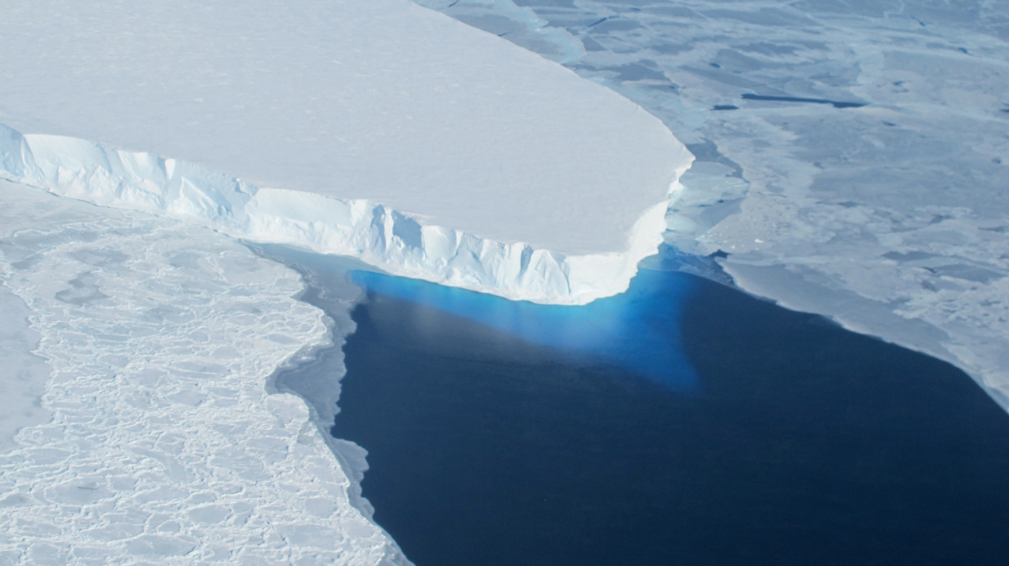 Antarctica's ice is being carved up from below