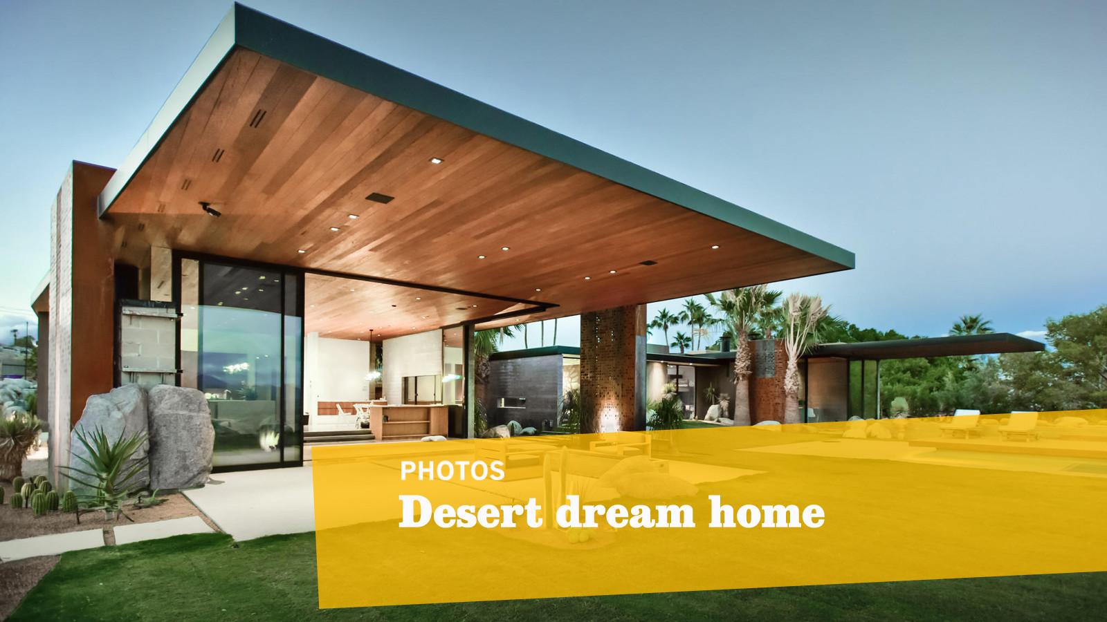 this palm springs dream home is built to look like it u0027s u0027launching