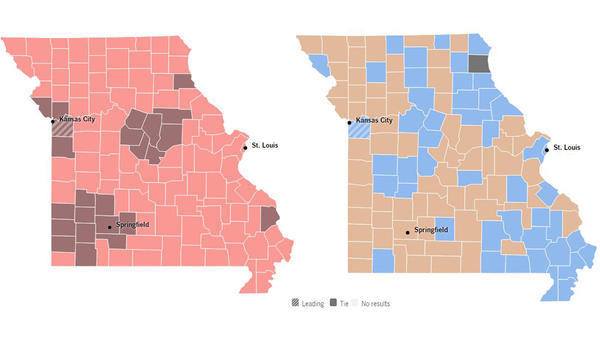 Trump And Clinton Dominated Primaries But No Missouri