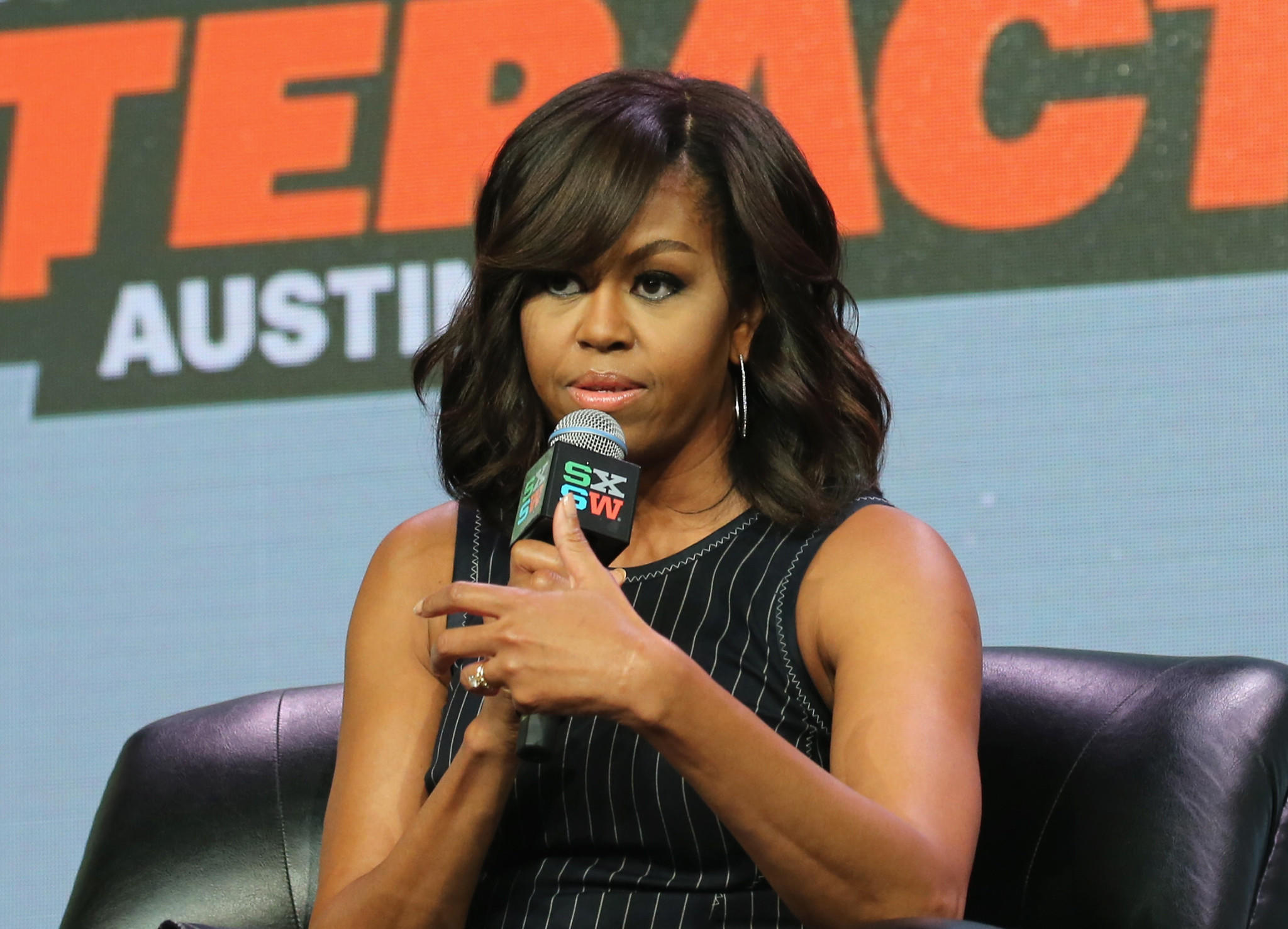 First Lady Michelle Obama speaks at the South by Southwest festival on March 16. (Neilson Barnard / Getty Images)