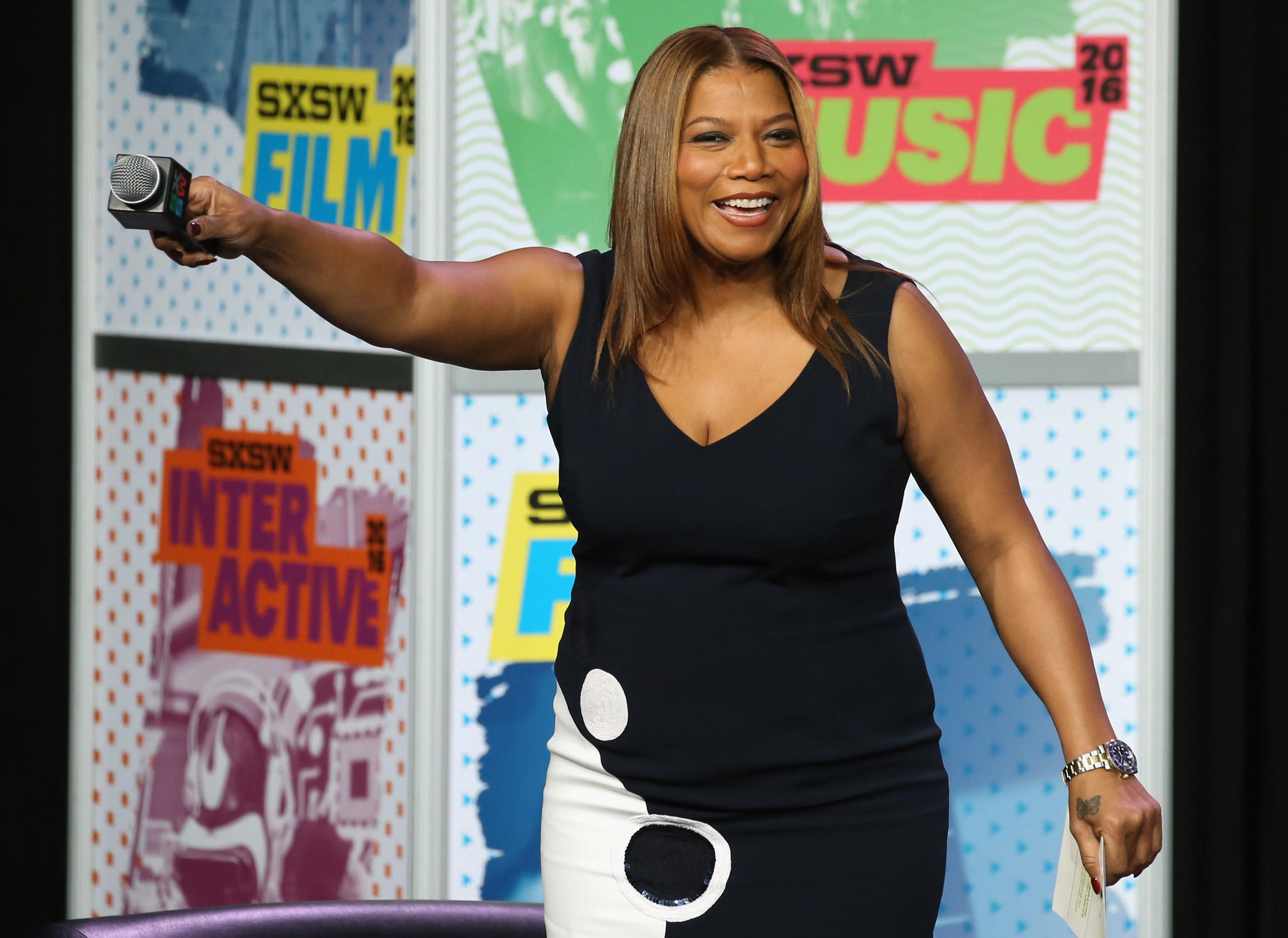 Queen Latifah during the SXSW keynote address. (Neilson Barnard / Getty Images)