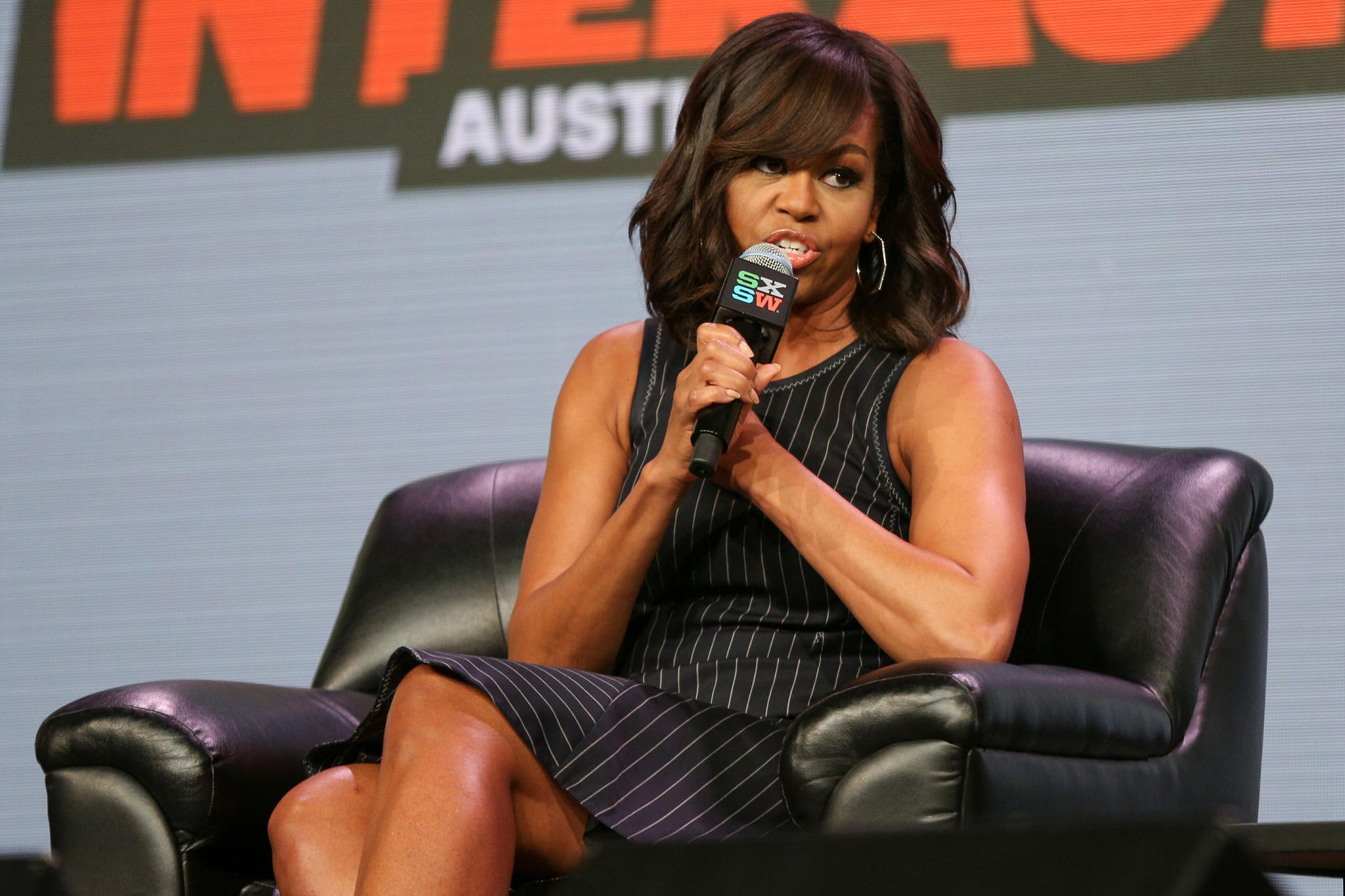 First Lady Michelle Obama speaks during a panel discussion at the 2016 South by Southwest festival. (Rich Fury / Invision / Associated Press)