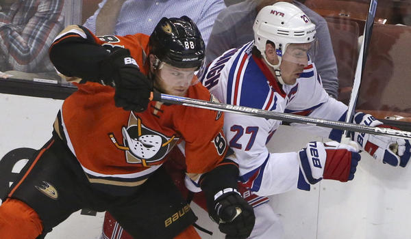 Ducks Can't Handle Rangers' Speed In 2-1 Loss At The Honda Center
