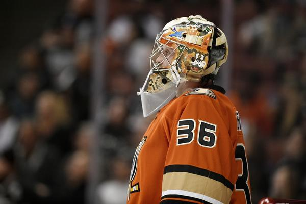 Ducks' Goalie Rotation In Jeopardy For Game Against Bruins