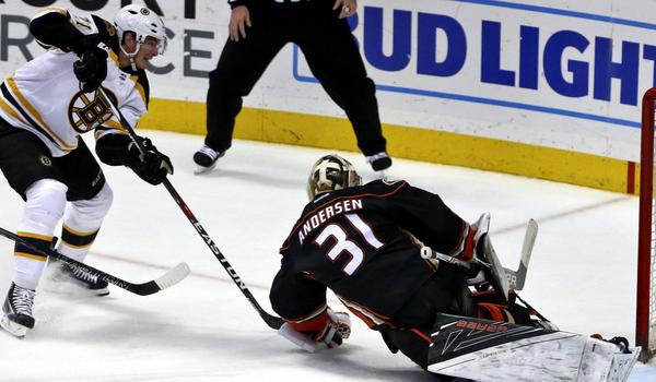 Frederik Andersen Has 38 Saves In Ducks' 4-0 Win Over Bruins