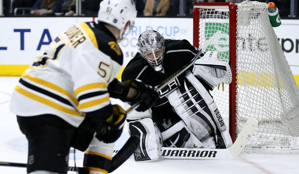 Goalie Jonathan Quick Is Spot On As Kings Clinch Playoff Berth With 2-1 Win Over Boston