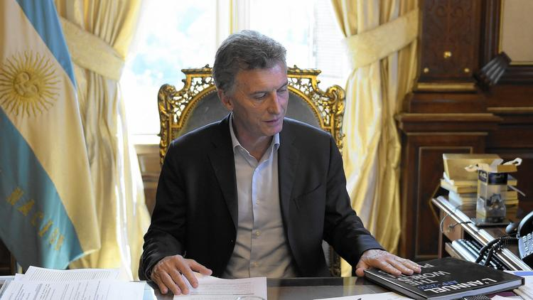 Argentine President Mauricio Macri at the presidential palace in Buenos Aires. (AFP / Getty Images)