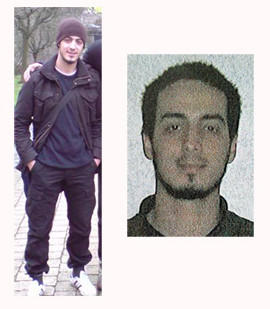 Two pictures of Najim Laachraoui released by Belgian Federal Police. (Belgian Federal Police)