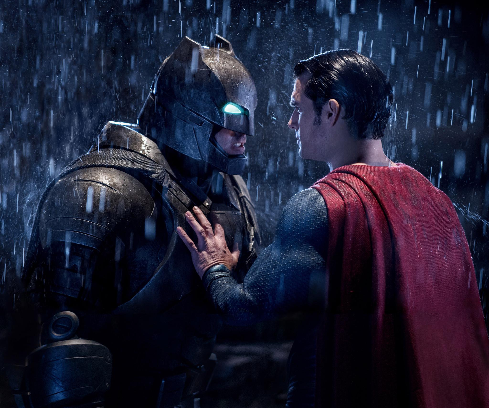 review batman v superman dawn of justice is a gritty superhero showdown la times