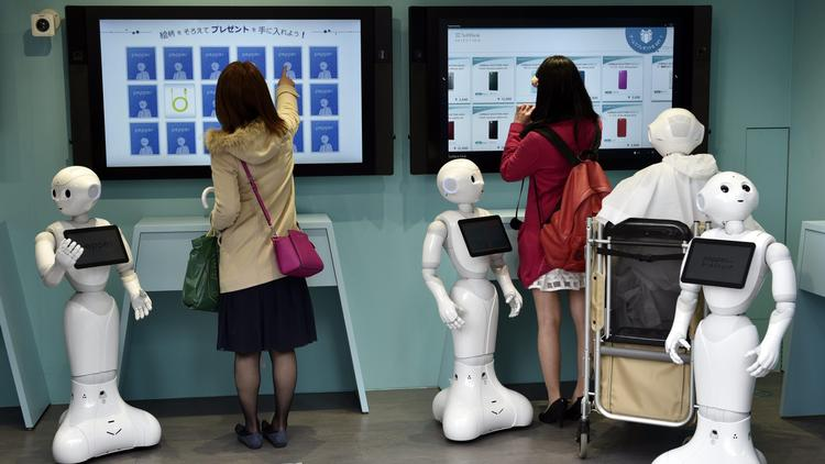 Robot-staffed store in Tokyo