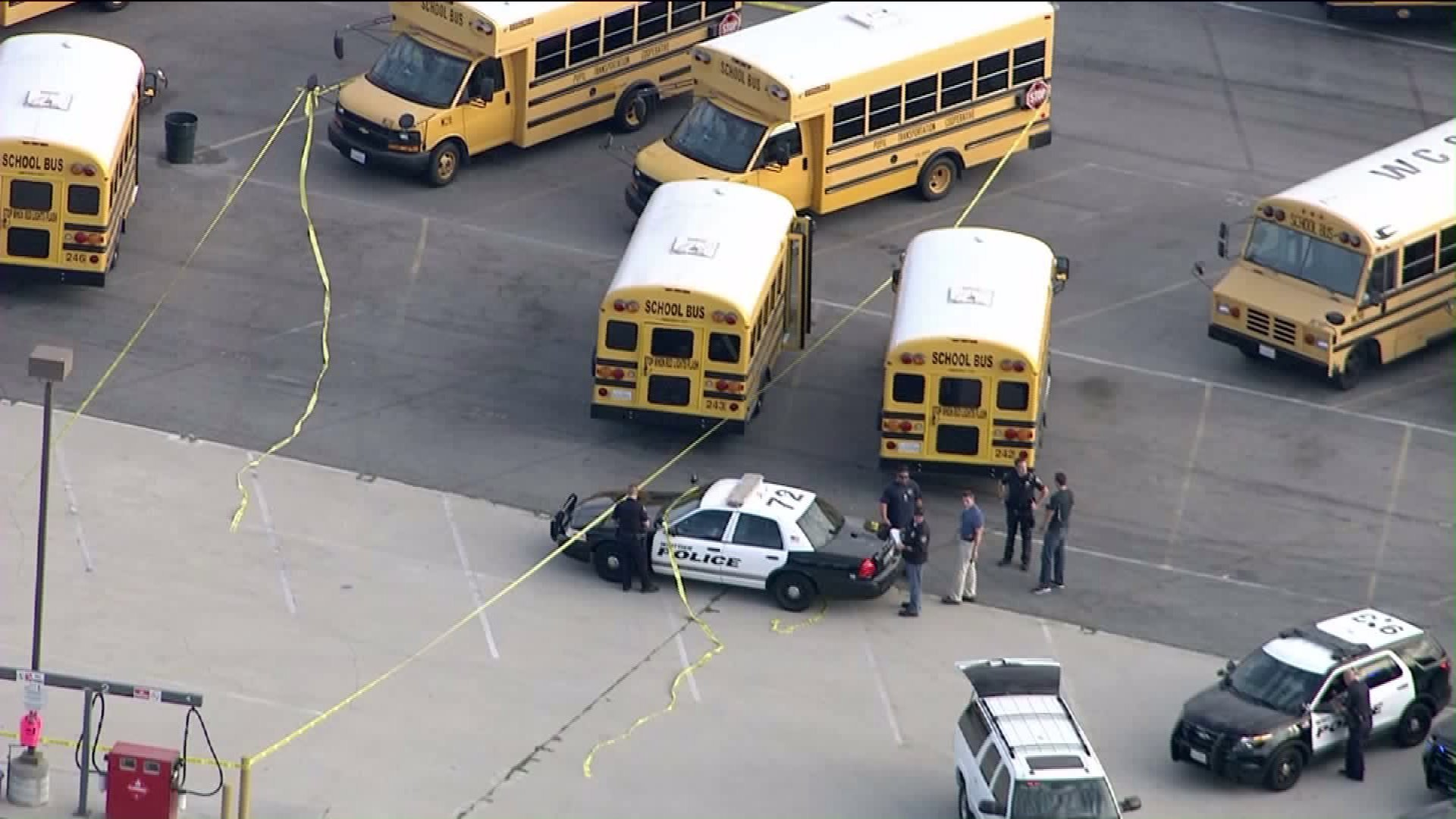 The body of a special needs student was found on a school bus in a district parking lot in Whittier on Sept. 11, 2015. (KTLA-TV Channel 5)