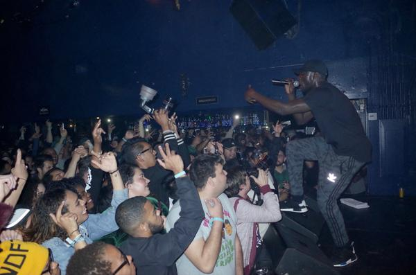 Stormzy during his performance at the Echo on March 23, 2016.
