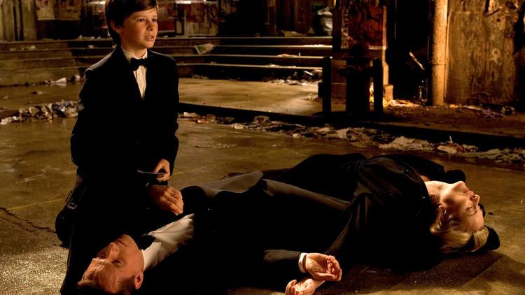 """Bruce Wayne's parent's die in """"Batman Begins."""""""
