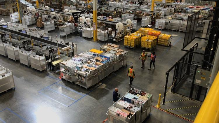 Amazon fulfillment center in Ruskin