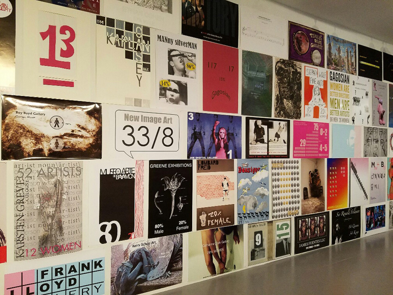 Superb How much do art galleries favor men over women Gallery Tally poster project puts answer on the wall LA Times