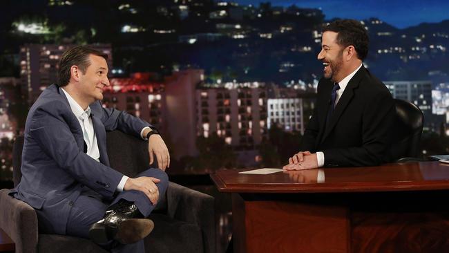 "Ted Cruz makes an appearance on ""Jimmy Kimmel Live."" (ABC)"