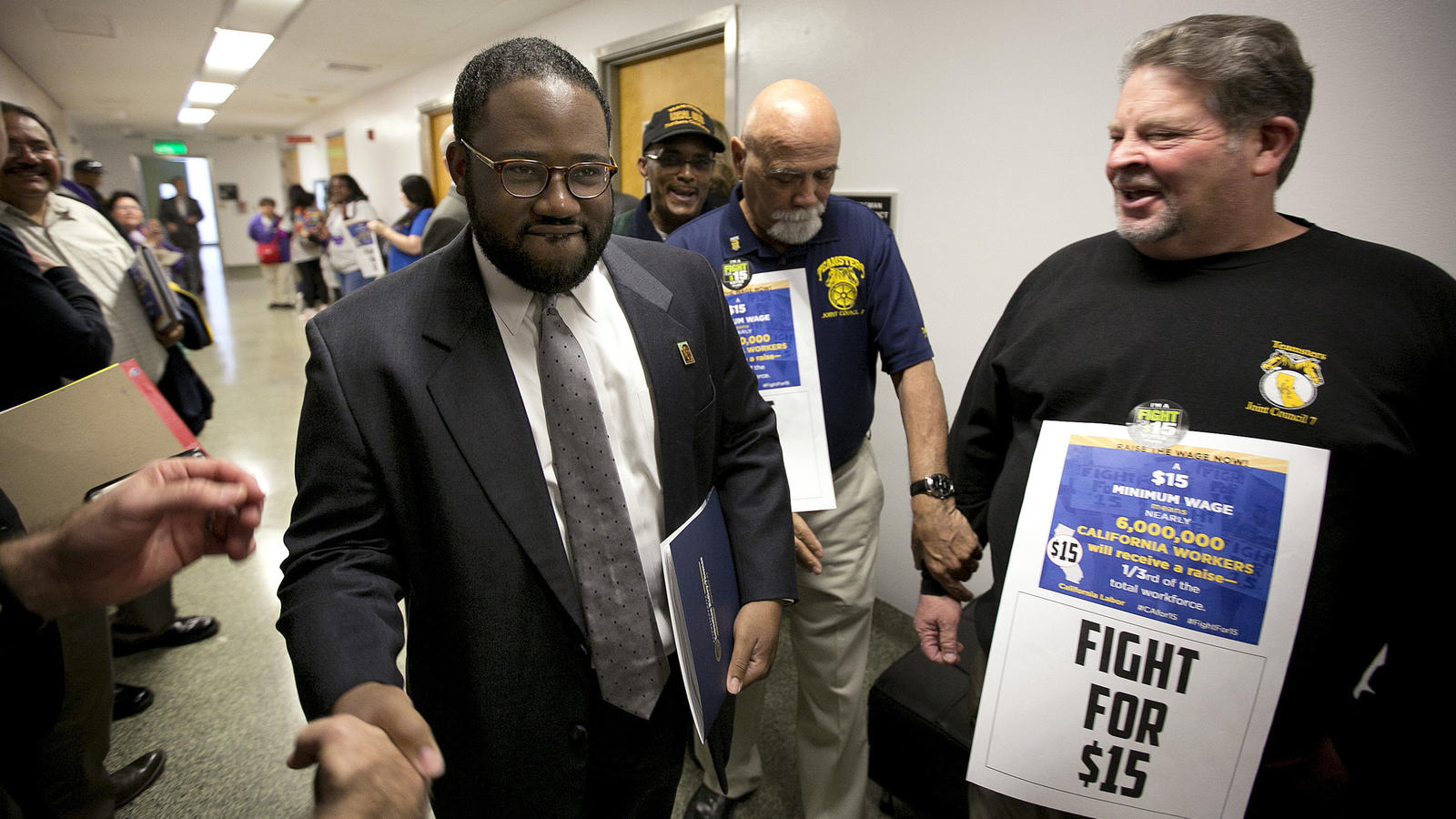 Assemblyman Sebastian Ridley-Thomas wrote the bill to prohibit consumer racial profiling. (Rich Pedroncelli / Associated Press)