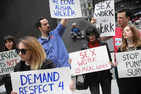Sex workers, advocates stand