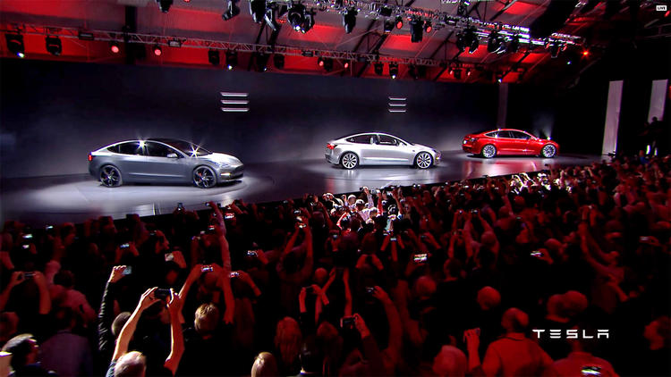 Electric unveiling of Tesla's Model 3