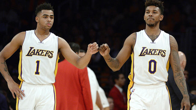 Image result for nick young dangelo russell