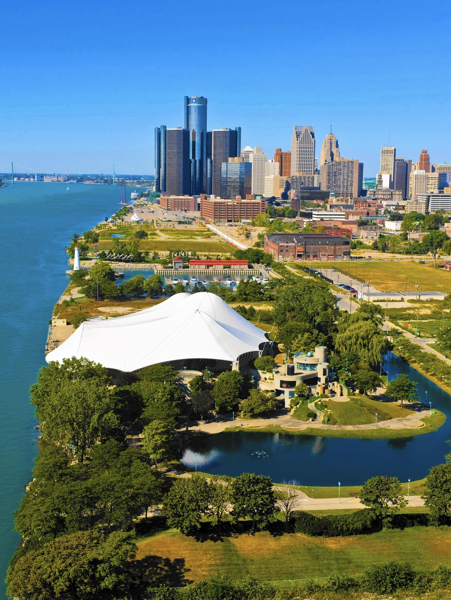 Detroit goes green after being in the red