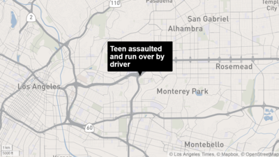 Teen boy dressed in women's clothing assaulted, run over in Monterey Park