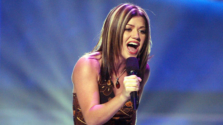 Kelly Clarkson, in the beginning. (Kevin Winter / Getty Images)