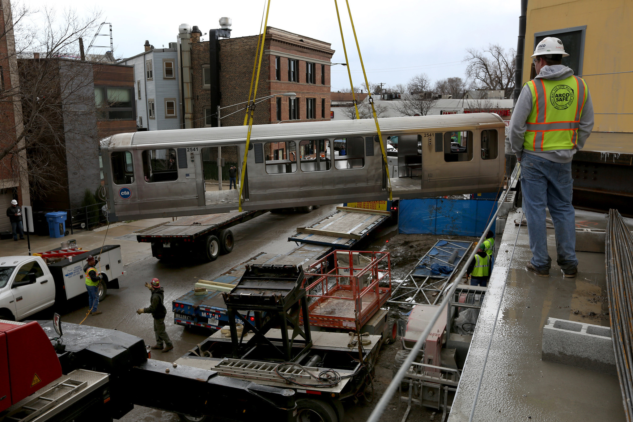 A Cta L Car Destined To Become A Rooftop Lounge