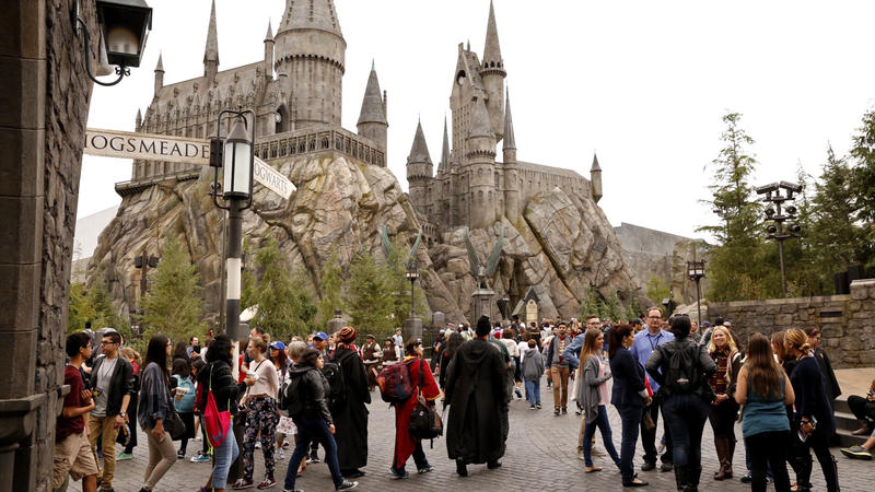 The Wizarding World of Harry Potter opened in 2016 at Universal Studios Hollywood. (Al Seib / Los Angeles Times)